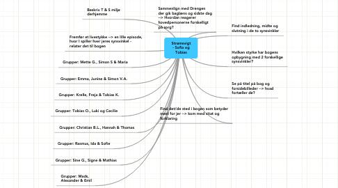 Mind Map: Strømsvigt - Sofia og Tobias