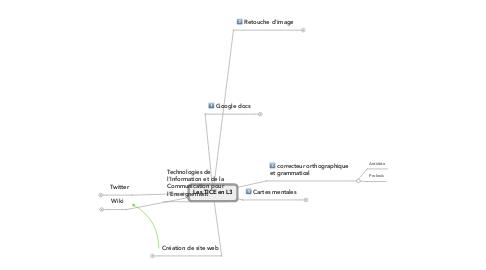 Mind Map: Les TICE en L3