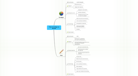 Mind Map: Tests et sondage sur