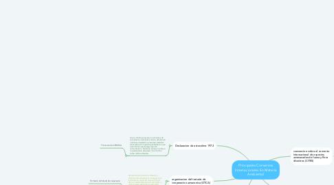 Mind Map: Principales Convenios Internacionales En Materia Ambiental