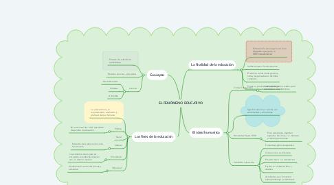 Mind Map: EL FENÓMENO EDUCATIVO