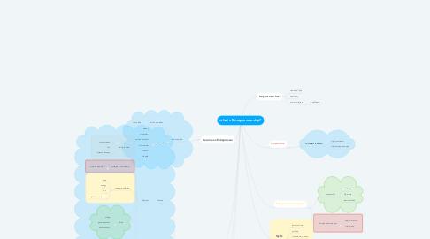 Mind Map: what's Entrepreneurship?