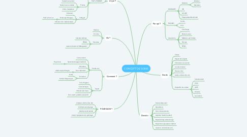 Mind Map: CONCEPT DE SOINS