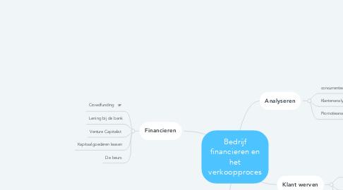 Mind Map: Bedrijf financieren en het verkoopproces