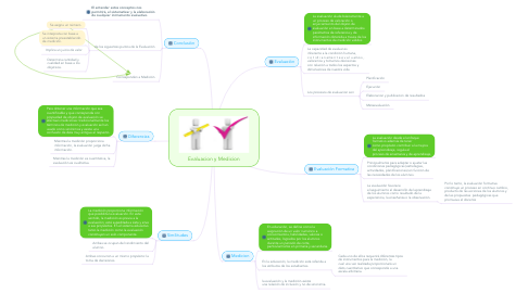Mind Map: Evaluacion y Medicion