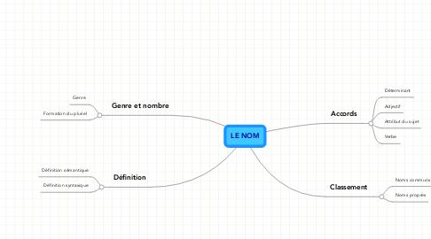 Mind Map: LE NOM