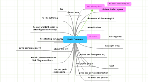 Mind Map: David Cameron