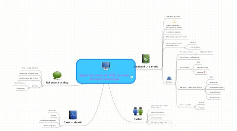 Mind Map: Apport du cours de TICE: se servir de l'outil numérique