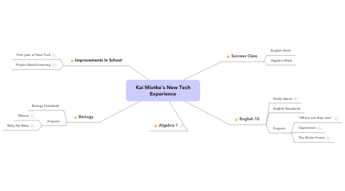 Mind Map: Kai Miotke's New Tech Experience