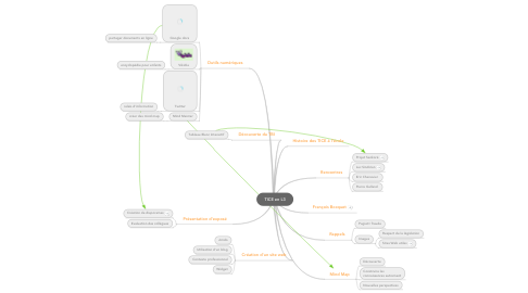Mind Map: TICE en L3