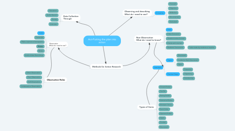 Mind Map: Act-Putting the plan into action