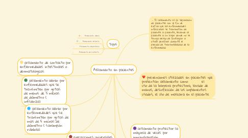 Mind Map: Aislamiento en pacientes