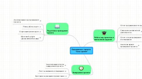 """Mind Map: Оценивание в проекте  """"Сила трения"""""""