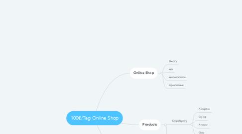 Mind Map: 100€/Tag Online Shop