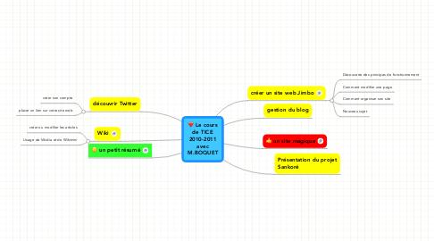 Mind Map: Le cours de TICE 2010-2011 avec M.BOQUET