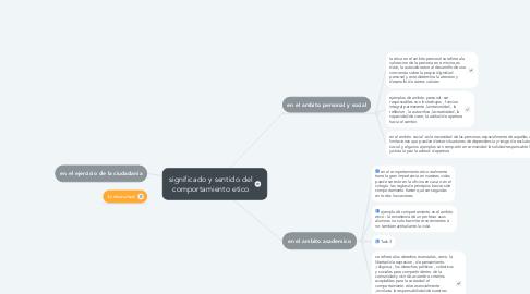 Mind Map: significado y sentido del comportamiento etico