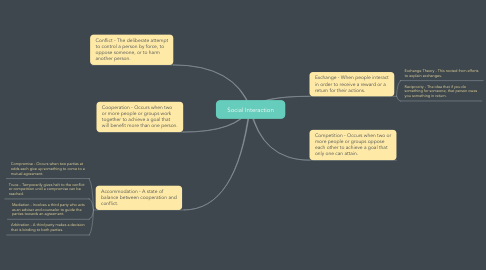Mind Map: Social Interaction