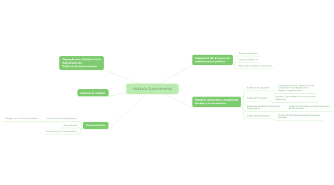 Mind Map: Auditoria Gubernamental