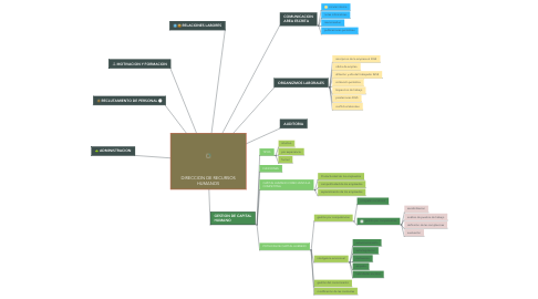 Mind Map: DIRECCION DE RECURSOS HUMANOS