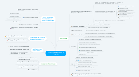Mind Map: Domaines d'intervention