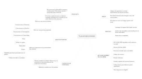 Mind Map: AUDITORÍA FORENSE