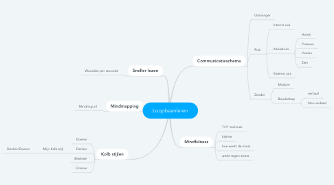 Mind Map: Loopbaanleren