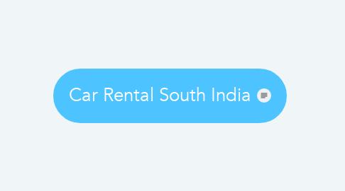 Mind Map: Car Rental South India