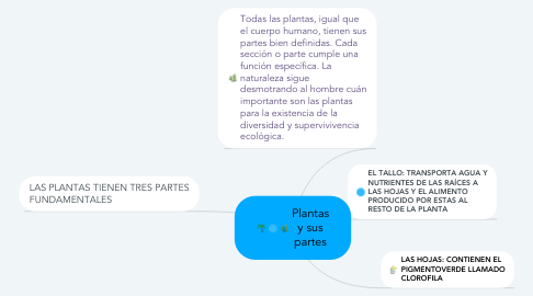 Mind Map: Plantas y sus partes