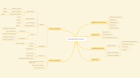 Mind Map: Konzept Map Evolution