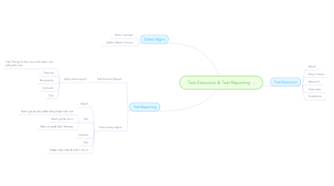 Mind Map: Test Execution & Test Reporting