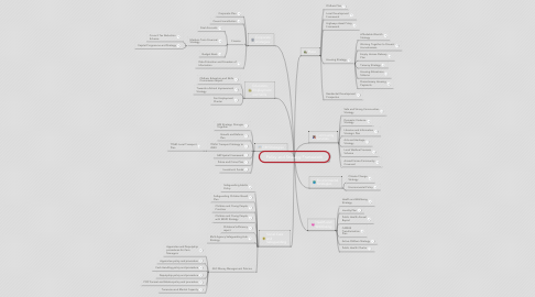 Mind Map: Policy and Strategy Framework