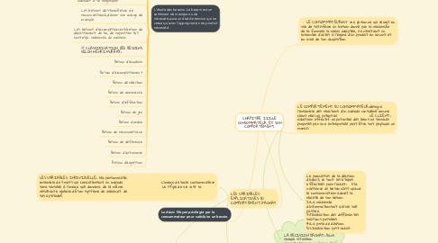 Mind Map: CHAPITRE III:LE CONSOMMATEUR ET SON COMPORTEMENT.