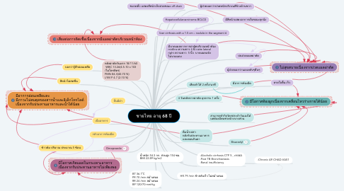Mind Map: ชายไทย อายุ 68 ปี