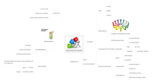 Mind Map: PSICOLOGIA DEL MANDO