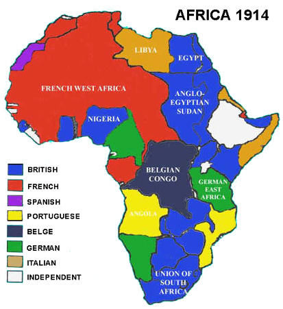 1914 Map Of Africa Map Of Africa