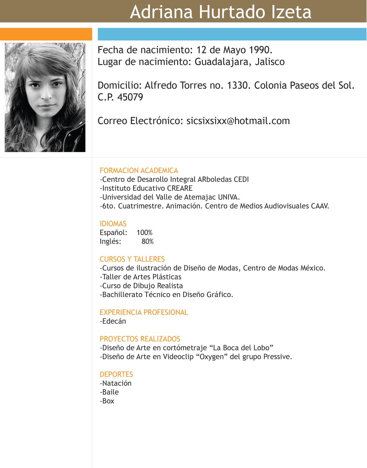 Elmentos de un Curriculum Vitae (Ejemplo) - MindMeister