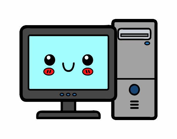 Kawaii Computer Icon Stock Vector C Jemastock 118690826